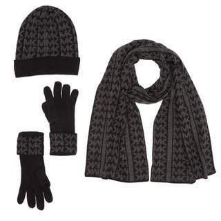 マイケルコース(Michael Kors)のMK マイケルコース ニット帽 帽子 マフラー 手袋 リバーシブル ブランド新品(マフラー)