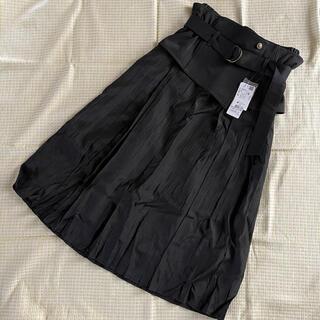 アクシーズファム(axes femme)のタグ付き 未使用 アクシーズファム ベルト付き プリーツスカート(ひざ丈スカート)