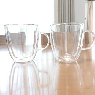 タンブラー ダブルウォールグラス 耐熱グラス 二重ガラス 保温 保冷 2個セット