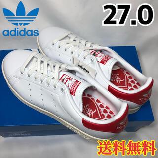 アディダス(adidas)の【新品】アディダス スタンスミス スニーカー ホワイト スカーレット 27.0(スニーカー)