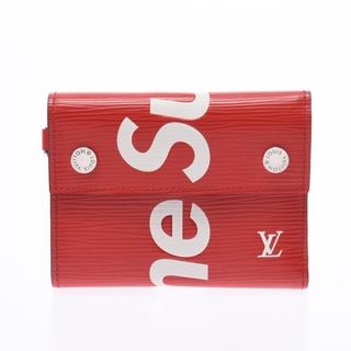 ルイヴィトン(LOUIS VUITTON)のルイヴィトン エピ Supremeコラボ コンパクトウォレット チェーンウ(折り財布)