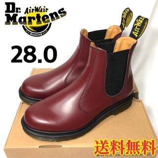 ドクターマーチン(Dr.Martens)の【新品】ドクターマーチン チェルシーブーツ サイドゴア チェリーレッド 28.0(ブーツ)