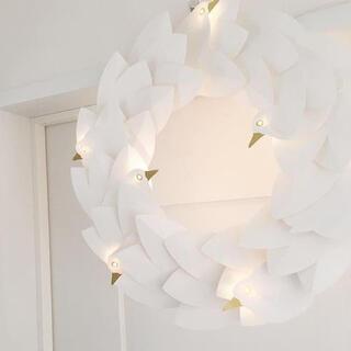 イケア(IKEA)の⋆IKEA ストローラ 鳩のLEDリースライト⋆(その他)