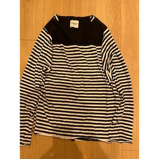 ナンバーナイン(NUMBER (N)INE)のSoloist ソロイスト ボーダー カットソー 50 黒(Tシャツ/カットソー(七分/長袖))