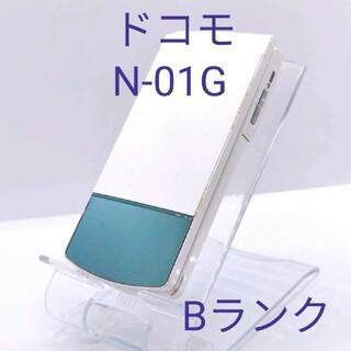 エヌティティドコモ(NTTdocomo)の11 docomo ドコモ N-01G  ホワイト ガラケー 携帯 電話(携帯電話本体)