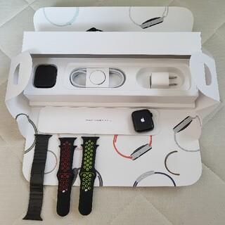 アップルウォッチ(Apple Watch)の【美品】Apple Watch5 ブラックステンレスモデル 40mm(その他)