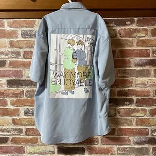 TIMESTEP バックプリントシャツ Mサイズ 新品未使用 メンズ 半袖シャツ