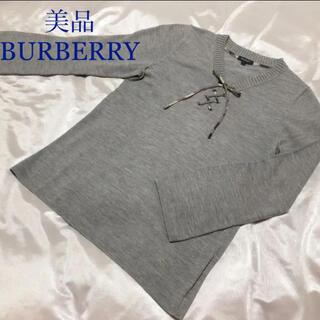 バーバリー(BURBERRY)の美品 バーバリー  カットソー   ニット セーター チェック リボン(ニット/セーター)