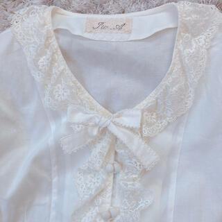 グリモワール(Grimoire)の今週限定 lace ribbon tops(シャツ/ブラウス(長袖/七分))