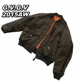 ジーヴィジーヴィ(G.V.G.V.)の【美品】G.V.G.V 15AW MA-1 ブルゾン ジャケット レースアップ(ブルゾン)