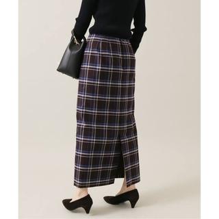 IENA - IENA チェックタイトスカート ブラウンA 38