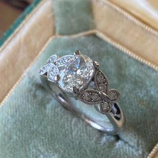 天然ダイヤモンド 1.01CT 大粒 プラチナリング ソーティング付き