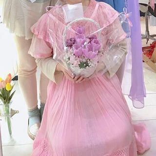 グリモワール(Grimoire)の今週限定 baby pink onepiece♡(ロングワンピース/マキシワンピース)
