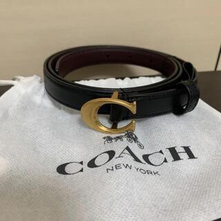 コーチ(COACH)の新品❗️コーチ💕ベルト ブラック ゴールド✨(ベルト)