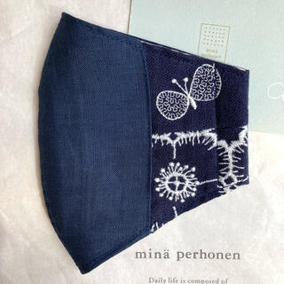 ミナペルホネン(mina perhonen)のハンドメイドインナーマスク*ミナペルホネン choucho ♪ 73(その他)