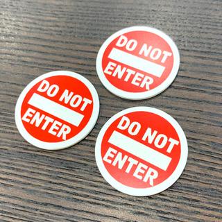 【送料無料】DO NOT ENTER 立入禁止 アクリルサインプレート3枚セット(店舗用品)