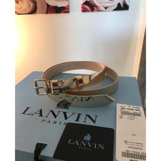 ランバン(LANVIN)のLANVIN ランバン レディース ベルト 牛革 ゴールド L(ベルト)