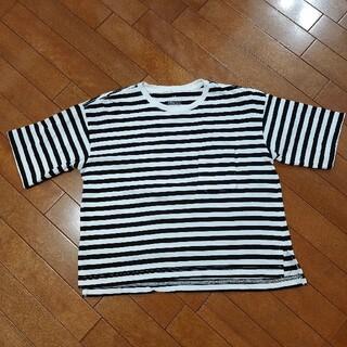 ムジルシリョウヒン(MUJI (無印良品))の無印良品 ボーダークルーネックTシャツ(Tシャツ(半袖/袖なし))