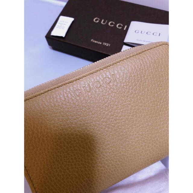 Gucci(グッチ)のGUCCIグッチコンパクト財布シボ革キャメル (ベージュ)新品未使用♪ レディースのファッション小物(財布)の商品写真