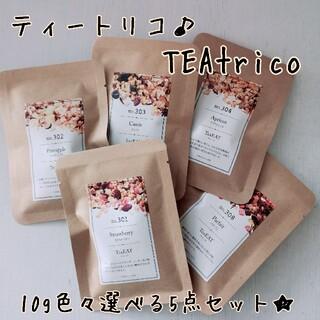 TEAtrico ティートリコ 食べれるお茶 10gサイズ 色々選べる5点セット(茶)