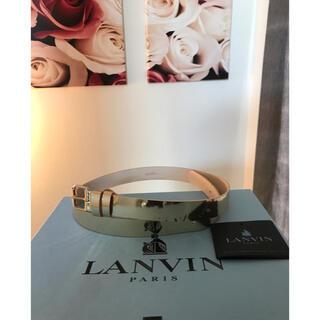 ランバン(LANVIN)のLANVIN ランバン レディース ベルト 牛革 ゴールド S(ベルト)