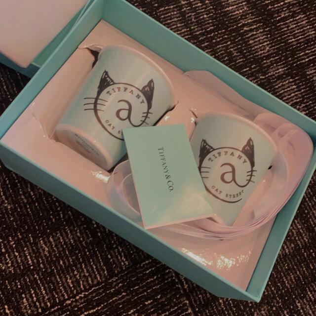 Tiffany & Co.(ティファニー)の専用ですまとめ買いTiffany キャット コップ 一つです!箱袋あり インテリア/住まい/日用品のキッチン/食器(グラス/カップ)の商品写真