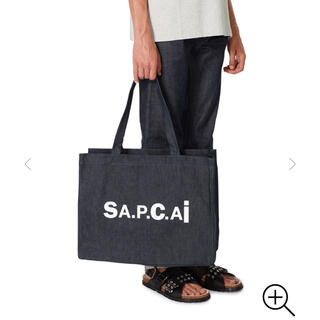 sacai - sacai a.p.c トート ネイビー