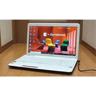東芝 - ノートパソコン シンプルなホワイト windows10 東芝 大容量500G