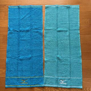 ミズノ(MIZUNO)のミズノ ロゴ刺繍 タオル フェイスタオル スポーツタオル 色違い2枚セット(その他)