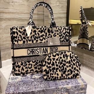 Christian Dior - 🌿ディオールヒョウ柄トートバッグ☆ポーチ☆スカーフ