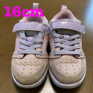 グラビス(gravis)の☆中古☆シューズ 16cm キッズ 女の子 ピンク 保育所用 gravis(スニーカー)