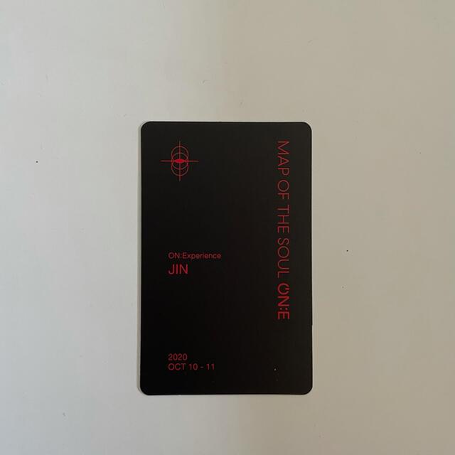 防弾少年団(BTS)(ボウダンショウネンダン)のBTS【JIN・ソクジン・진】 ONEコン DVD トレカ エンタメ/ホビーのCD(K-POP/アジア)の商品写真