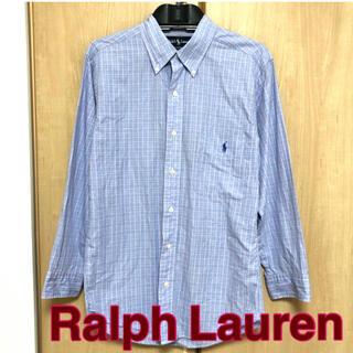 ラルフローレン(Ralph Lauren)の【Ralph Lauren】シャツ 水色 チェック メンズ(シャツ)