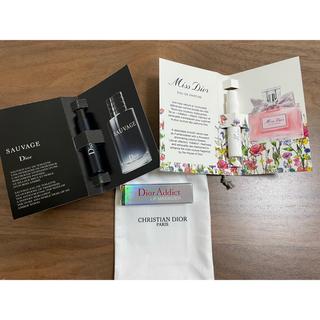 クリスチャンディオール(Christian Dior)の新ミスディオール ソヴァージュ マキシマイザー試供品 3点セット(香水(女性用))