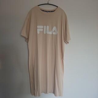 フィラ(FILA)のFILA ロング丈Tシャツ ワンピース(ひざ丈ワンピース)