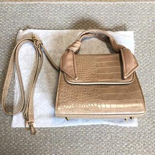 ディーホリック(dholic)の韓国 クロコ風ハンドバッグ ショルダー付き(ショルダーバッグ)