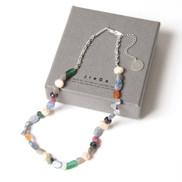 Jieda(ジエダ)のJieda Mix Stone Necklace ジエダ ネックレス メンズのアクセサリー(ネックレス)の商品写真