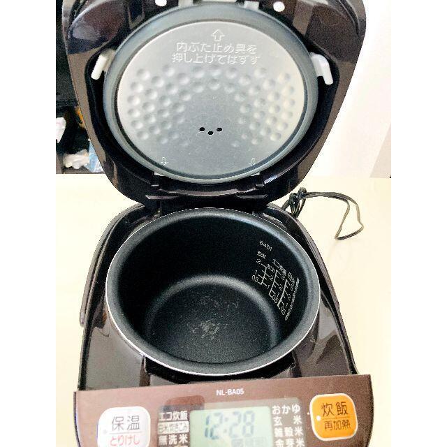 象印(ゾウジルシ)の マイコン炊飯器 3合 ブラウン NL-BA05-TA   スマホ/家電/カメラの調理家電(炊飯器)の商品写真