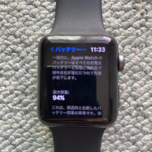 Apple Watch(アップルウォッチ)のApple Watch 3 38mm GPSモデル メンズの時計(腕時計(デジタル))の商品写真