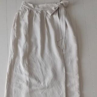 グローバルワーク(GLOBAL WORK)のグローバルワーク 麻の可愛い巻きスカート(ロングスカート)