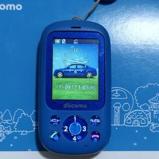 フジツウ(富士通)のキッズ携帯 kids携帯 F-03J 富士通 ブルー(携帯電話本体)