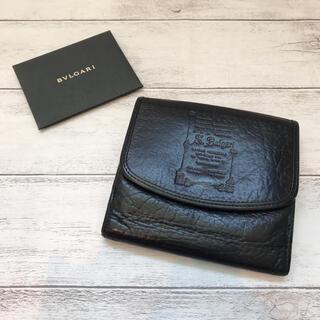 BVLGARI - 【本革】BVLGARI ブルガリ メンズ 折り財布 三つ折り財布 ブラック