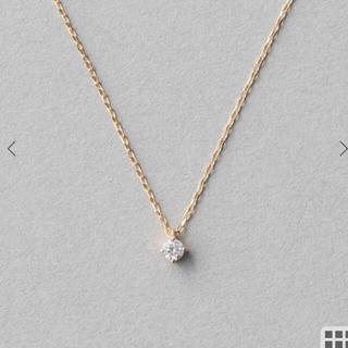 ete - ete K10 レイヤー ダイヤモンド ネックレス