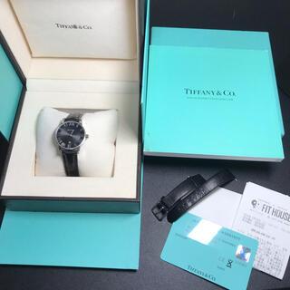 ティファニー(Tiffany & Co.)の【良品 可動品】ティファニー アトラスドーム ユニセックス ブラック 確実正規品(腕時計(アナログ))