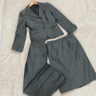 インディヴィ(INDIVI)のレディースパンツスカートスーツ3点セット 美品(スーツ)