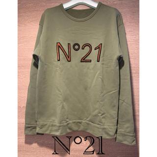 N°21 - ヌメロヴェントゥーノ N°21 立体ロゴ クルーネックスウェット