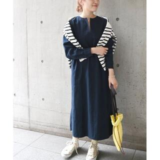 SHIPS for women - 新作★新品 SHIPS any モールスキン ワンピース ネイビー
