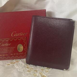 Cartier - 綺麗!Cartier カルティエ 折財布 二つ折り財布 ボルドー 小銭入れ特徴的
