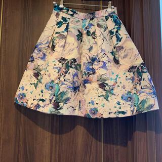 ユニバーバルミューズ(UNIVERVAL MUSE)のユニバーバルミューズ ジャガード 花柄 スカート(ミニスカート)