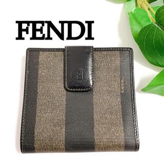 フェンディ(FENDI)の超希少 ヴィンテージ フェンディ ペカン柄 二つ折り 財布 FENDI レザー(財布)